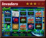 Invaders gokkast, in het bonusspel mag u met een ufo huizen leegroven